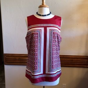 Banana Republic Red Sleeveless Blouse size 14